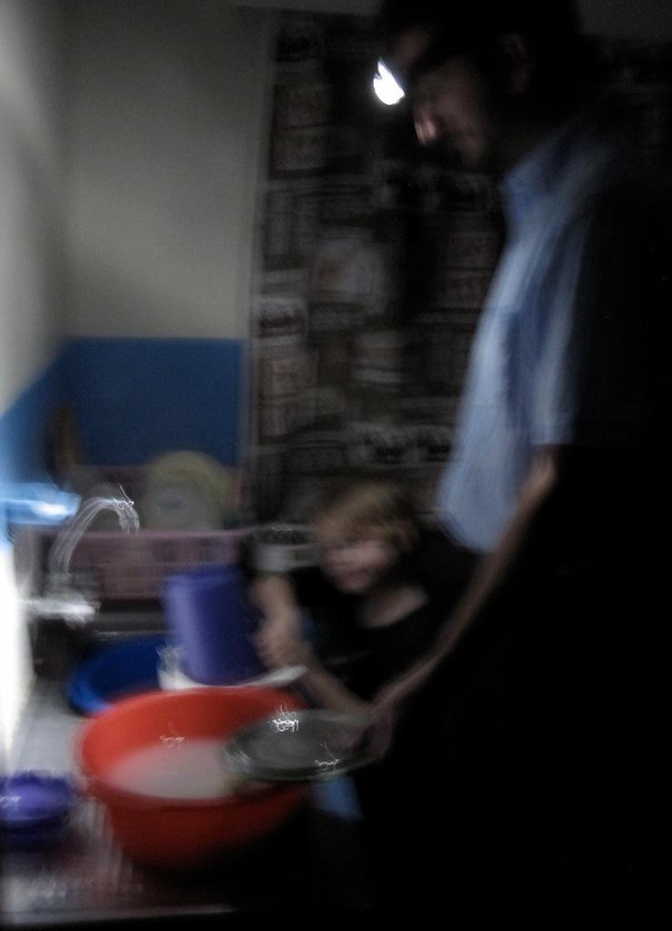 Abwasch bei Stromausfall